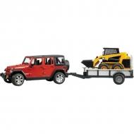 U02925 Jeep + przyczepa jednoosiowa