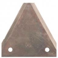 B102UN Ostrze noża, z zębami 75 x 76 x 2