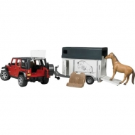 U02926 Jeep + przyczepa do przewozu koni
