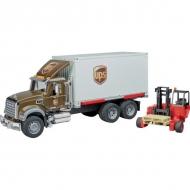 U02828 Ciężarówka Mack UPS z wózkiem widłowym