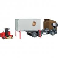 U03581 Ciężarówka Scania UPS z wózkiem widłowym