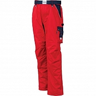 19602030080080 Spodnie robocze GWB, czerwono-granatowe, roz. XS