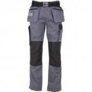 KW102830090075 Spodnie monterskie szaro/czarne 2XS, Kramp Original