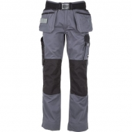 KW102830090106 Spodnie monterskie szaro/czarne XL, Kramp Original