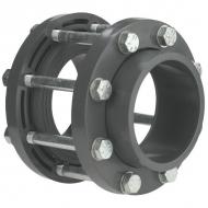 KIT090 Zestaw przyłączeniowy z PCW do zaworu klapowego odcinającego VdL, DN 80 90 x 90 mm