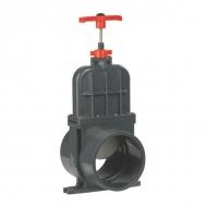 1300110V Zawór suwakowy odcinający z PCW długi z mufą wklejany VdL, 110 mm