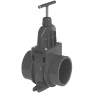 1300090 Zawór suwakowy odcinający z PCW z mufą wklejaną VdL, 90 mm