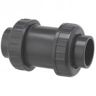 RV075PVC Zawór zwrotny odcinający z PCW z mufą wklejaną VdL, 75 mm DN 65
