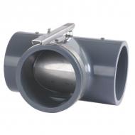 7160160KR Trójnik z zasuwą z PCW Kramp, 160 mm
