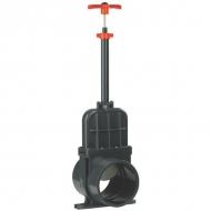 1300110L Zawór suwakowy odcinający z PCW długi z mufą wklejany VdL, 110 mm