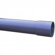 7110016 Rura z PCW z mufą, 110 mm PN16