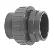 7040200 Złączka PCW-U z nakrętką nasadową VdL, 40 x 40 mm 16 bar