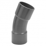 7110522 Kolanko PCW-U 22.5° z mufą VdL, 110 x 110 mm 12.5 bar