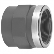 """74011461 Mufa z gwintem wew. z PCW VdL, 40 mm x 1 1/4"""" z pierścieniem"""