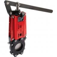 DN80VNBN Zasuwa płytowa VNB z dźwignią szybkiego zamykania WEY, DN 80