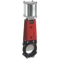 DN100VNCN Zasuwa płytowa VNC ze sterowaniem pneumatycznym WEY, DN 100