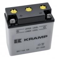 6N11A4KR Akumulator Kramp, motocyklowy, 6 V, 12 Ah, z elektrolitem