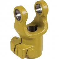 1010110 Widłak zewnętrzny ze śrubą zaciskową seria W, Ø 25 mm rowek 8 mm, W2100