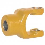 102229 Widłak zewnętrzny z rowkiem i otworem gwintowanym seria W, Ø 22 mm rowek 6 mm, W2100
