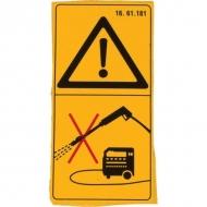 1661181 Folia ostrzegawcza