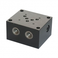 ES5B12LLY Podstawy stopy Cetop 05 typ ES5 B 12 LLY, ES 5-B-1/2-LLY, ogranicznik boczny, AB+PT