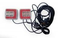 Zestaw lamp, świateł LED 25 na magnes + przewód 7,5 m.