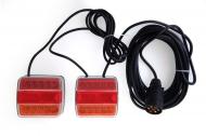 Zestaw lamp, świateł LED (P/CZ) na magnes, przewód 7,5 m.
