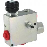 VPR3ET10004ST Zawór regulacji przepływu, 3-drożny, stalowy
